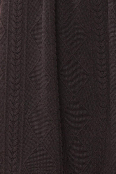 Adema Black Puffy Sleeve Knitted Dress | La petite garçonne fabric
