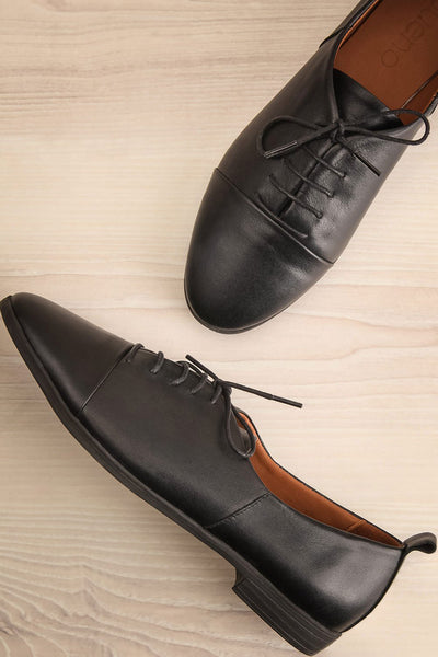 Adesus Night Black Leather Lace-Up Shoes | La Petite Garçonne