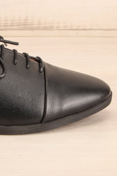 Adesus Night Black Leather Lace-Up Shoes | La Petite Garçonne Chpt. 2 7