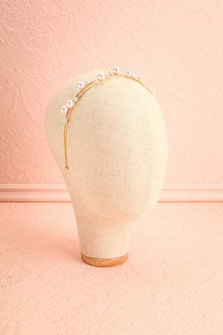 Adoracion Golden Headband with Pearl Ornamentation | Boudoir 1861