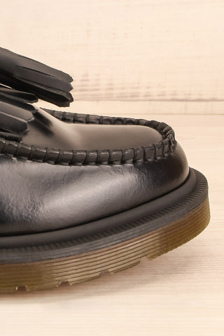 Adrian Black Leather Dr. Martens Loafers side front close-up | La Petite Garçonne Chpt. 2