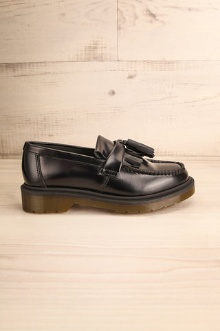 Adrian Black Leather Dr. Martens Loafers side view | La Petite Garçonne Chpt. 2
