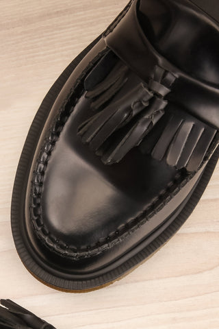 Adrian Black Leather Dr. Martens Loafers flat lay close-up | La Petite Garçonne Chpt. 2