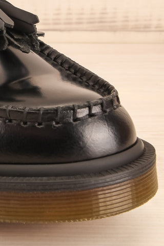 Adrian Black Leather Dr. Martens Loafers front close-up | La Petite Garçonne Chpt. 2