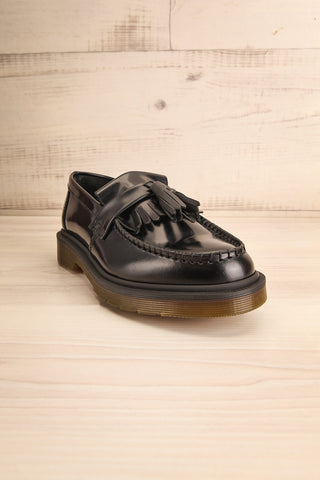 Adrian Black Leather Dr. Martens Loafers front view | La Petite Garçonne Chpt. 2