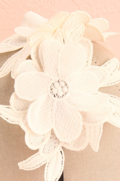 Aechméa - White mesh and embroideries Ophelie Hats headband 4