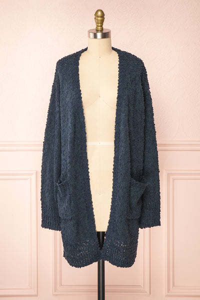Aegle Forest Long Fuzzy Knitted Cardigan | Boutique 1861 front view