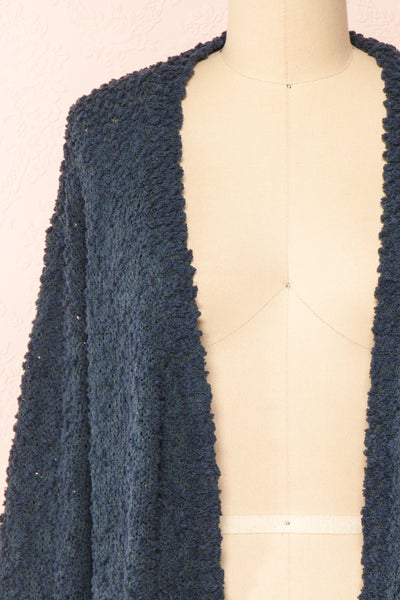 Aegle Forest Long Fuzzy Knitted Cardigan | Boutique 1861 front close-up
