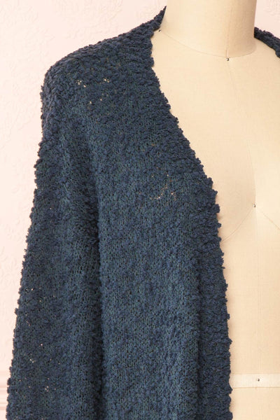 Aegle Forest Long Fuzzy Knitted Cardigan | Boutique 1861 side close-up