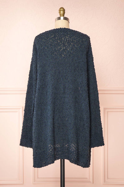 Aegle Forest Long Fuzzy Knitted Cardigan | Boutique 1861 back view