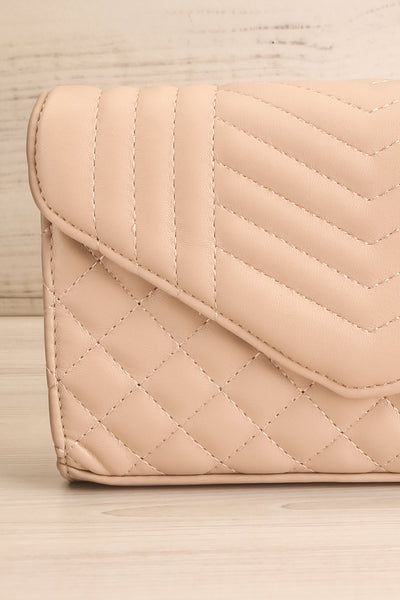Affatim Beige Quilted Crossbody Clutch Bag | La Petite Garçonne 9