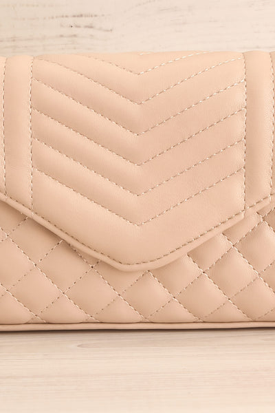 Affatim Beige Quilted Crossbody Clutch Bag | La Petite Garçonne 3
