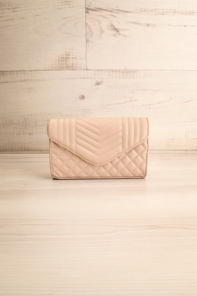 Affatim Beige Quilted Crossbody Clutch Bag | La Petite Garçonne 1