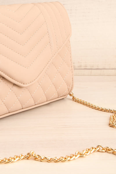 Affatim Beige Quilted Crossbody Clutch Bag | La Petite Garçonne 6