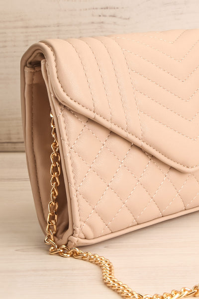 Affatim Beige Quilted Crossbody Clutch Bag | La Petite Garçonne 5