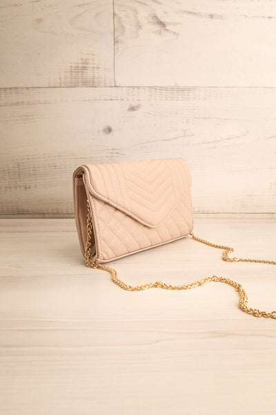 Affatim Beige Quilted Crossbody Clutch Bag | La Petite Garçonne 4