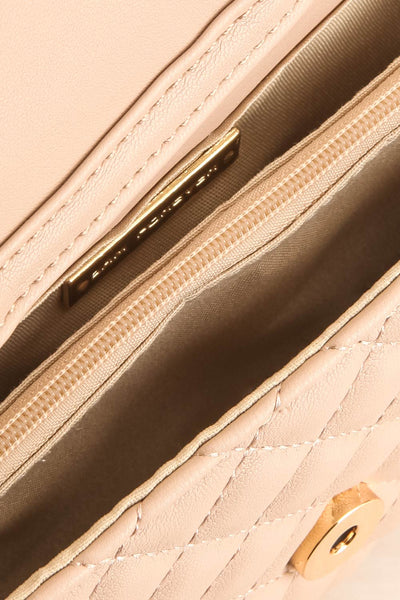 Affatim Beige Quilted Crossbody Clutch Bag | La Petite Garçonne 8
