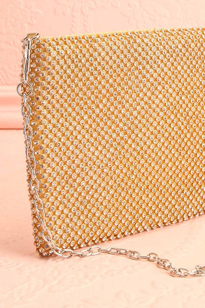 Agave Gold Crystal Clutch | Sac à Main | Boutique 1861 side close-up