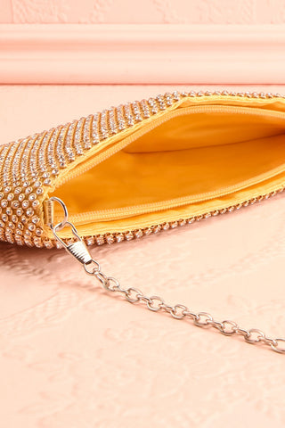 Agave Gold Crystal Clutch | Sac à Main | Boutique 1861 inside close-up