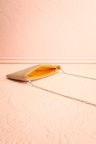 Agave Gold Crystal Clutch | Sac à Main | Boutique 1861 inside view