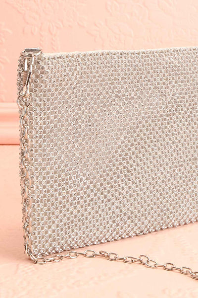 Agave Silver Crystal Clutch | Sac à Main | Boutique 1861 side close-up