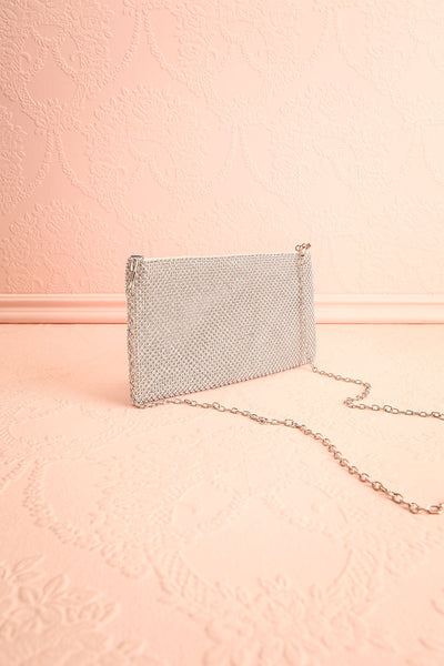 Agave Silver Crystal Clutch | Sac à Main | Boutique 1861 side view