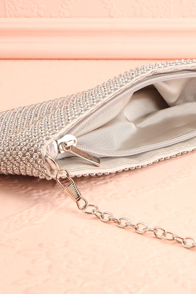 Agave Silver Crystal Clutch | Sac à Main | Boutique 1861 inside close-up