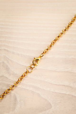 Agnes Gold Pendant Necklace | Collier | La Petite Garçonne closure