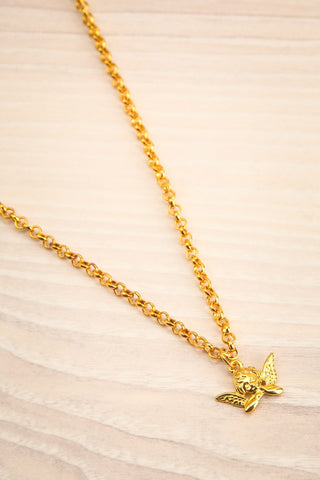 Agnes Gold Pendant Necklace | Collier | La Petite Garçonne flat view