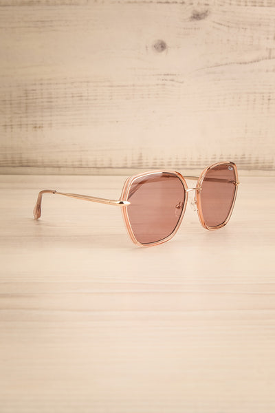 Agreste Peach & Taupe Sunglasses | La petite garçonne side view