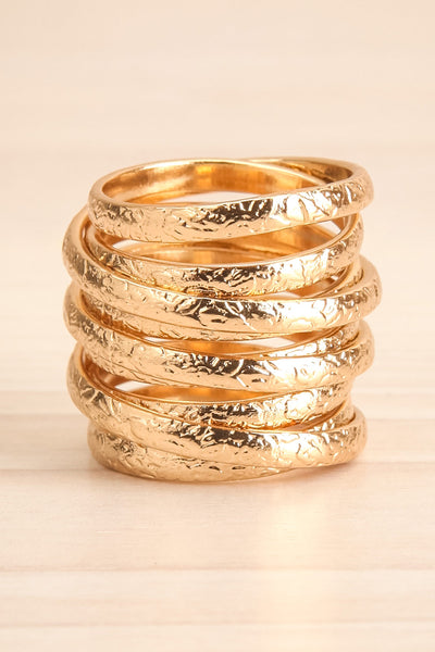 Alacritas Gold Fashion Rings | Bagues | La Petite Garçonne big close-up