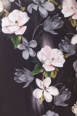 Alexina Black Floral Fitted Ted Baker Cocktail Dress | Boutique 1861 fabric detail