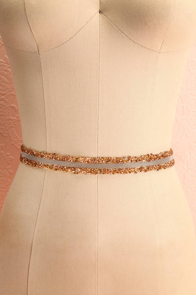 Alfifa Or Golden Yellow Ribbon Belt with Crystals | Boudoir 1861
