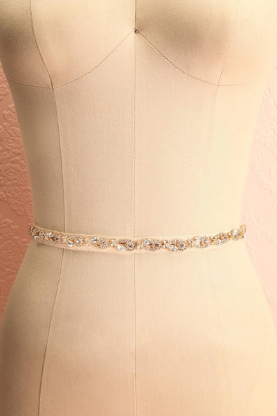 Alita Gold Ribbon Belt w/ Crystal Ornament | Boudoir 1861