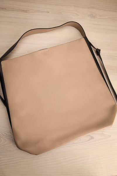 Alterum Café Black & Beige Faux-Leather Tote Bag | La Petite Garçonne 3