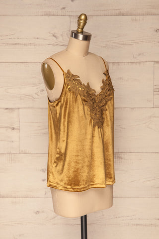 Amantea Moutarde Gold Camisole | Velours | La Petite Garçonne side view
