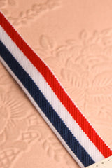 Amarantine - White, navy and red anchor belt