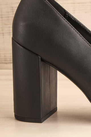 Amari Black Matt & Nat Block High Heels side close-up | La Petite Garçonne