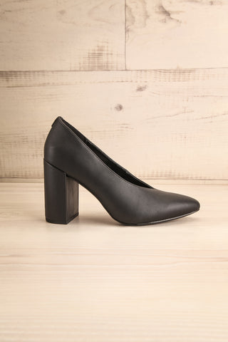 Amari Black Matt & Nat Block High Heels side view | La Petite Garçonne