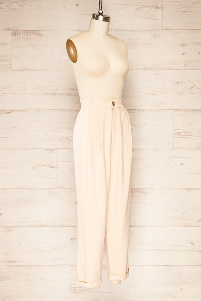 Ammy Blush Pleated High Waist Pants | La petite garçonne side view