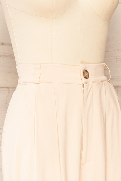 Ammy Blush Pleated High Waist Pants | La petite garçonne side close-up