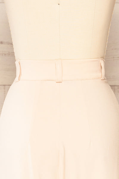 Ammy Blush Pleated High Waist Pants | La petite garçonne back close-up