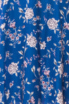 Anaelle Midnight Blue Floral Silky Cocktail Dress | DETAIL | Boutique 1861