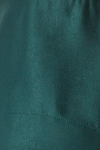 Angelina Emerald Green Satin A-Line Party Dress | Boutique 1861 fabric detail