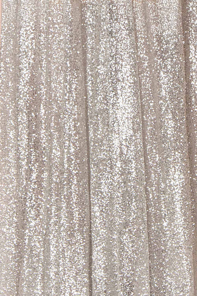 Anice Silver Glittery Dress | Robe Argent | Boutique 1861 fabric detail