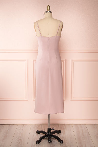 Anita Dusty Mauve Dress | Robe Mauve Cendré back view | Boutique 1861