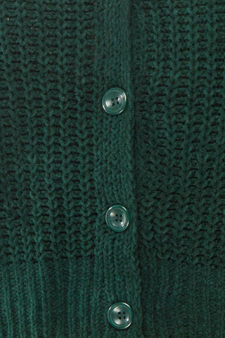 Anja Green Fuzzy Knit Button-Up Cardigan | Boutique 1861 fabric detail