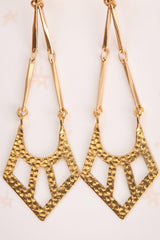 Ann Sothern Golden Geometric Pendant Earrings | La Petite Garçonne 2