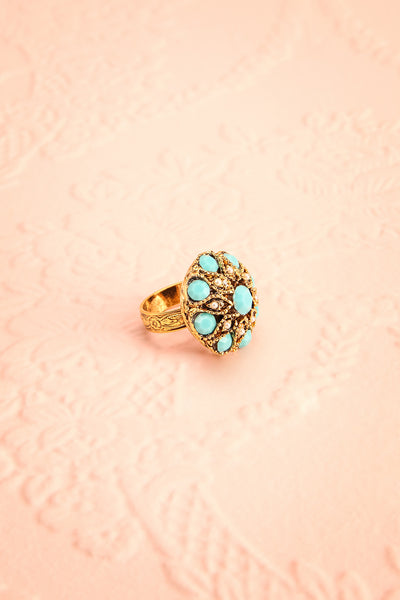Anomala - Golden and turquoise ring | Boudoir 1861 1