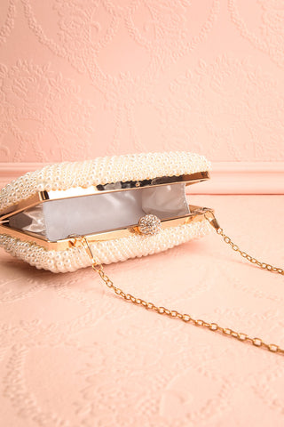 Pandore Pearl Crossbody Clutch inside view | Boudoir 1861